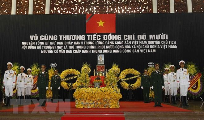 Lễ truy điệu nguyên Tổng Bí thư Đỗ Mười. Nguồn: TTXV