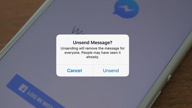 Facebook sắp bổ sung tính năng 'thu hồi' tin nhắn cho Messenger