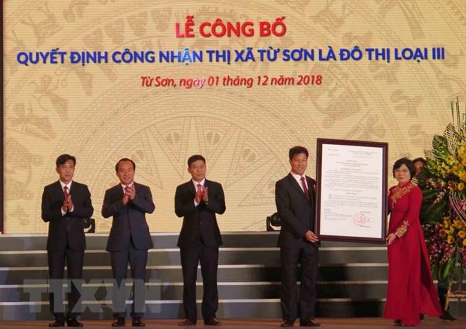 Bắc Ninh công bố quyết định thị xã Từ Sơn là đô thị loại III - ảnh 1
