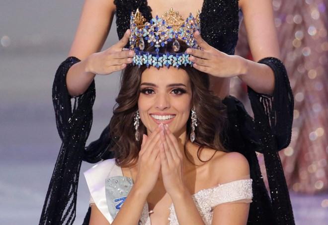 Người đẹp Mexico Vanessa Ponce de Leon, 26 tuổi, đăng quang Hoa hậu Thế giới (Miss World 2018). Nguồn: Reuters