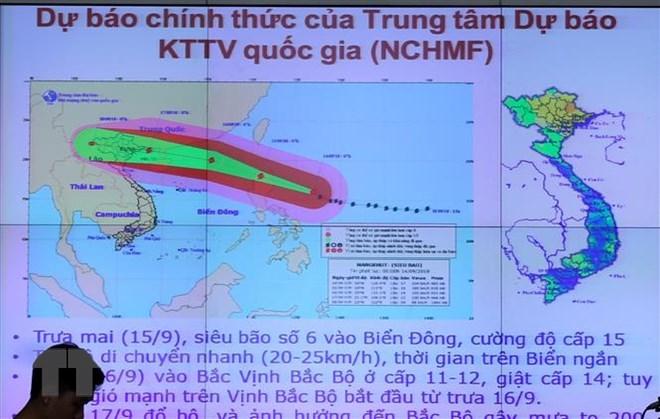 Hoàn lưu siêu bão Mangkhut sẽ gây mưa rất to ở Bắc Bộ - ảnh 1