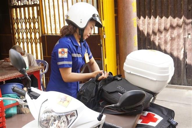Thành phố Hồ Chí Minh: Thí điểm cấp cứu ngoại viện bằng xe máy - ảnh 1