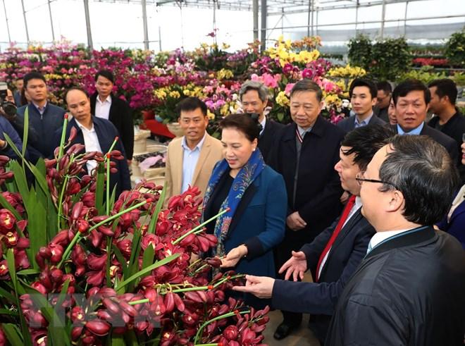 Chủ tịch Quốc hội thăm xã nông thôn mới tại tỉnh Hưng Yên