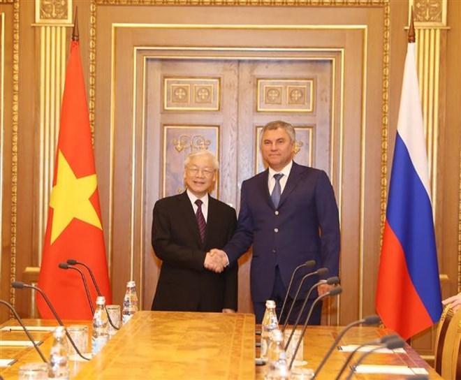 Tổng Bí thư Nguyễn Phú Trọng hội kiến Chủ tịch Duma Quốc gia Nga - 1