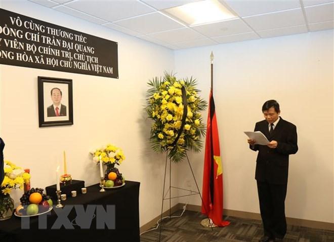Lễ viếng và mở sổ tang Chủ tịch nước Trần Đại Quang tại LHQ 1
