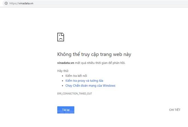Hàng loạt website gặp sự cố, chưa có dấu hiệu tấn công mạng
