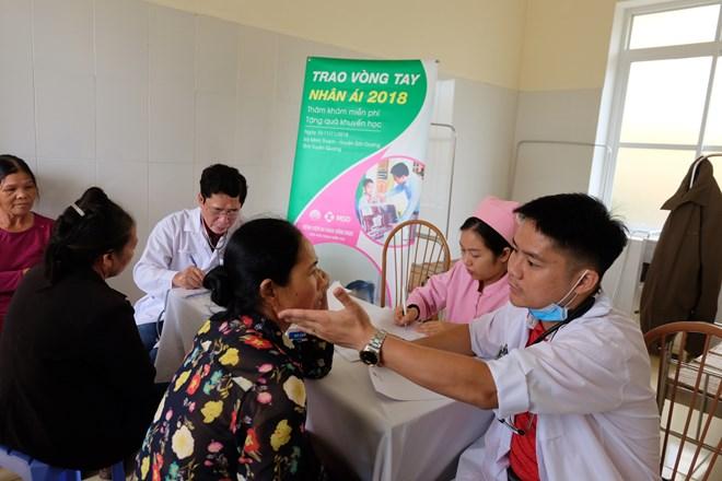 Khám bệnh, cấp phát thuốc cho 700 người dân ở Tuyên Quang - ảnh 1