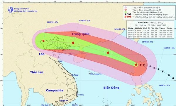 Vùng biển phía Bắc của Vịnh Bắc Bộ có mưa bão từ chiều 16/9 - ảnh 1