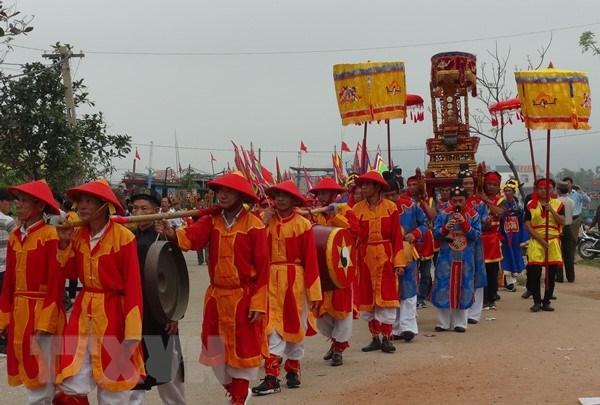 Lễ hội cầu ngư Quảng Bình được công nhận là di sản văn hóa phi vật thể quốc gia. (Ảnh: TTXVN)