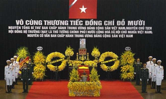 Những hình ảnh đầu tiên về lễ quốc tang, lễ viếng Nguyên Tổng Bí thư Đỗ Mười