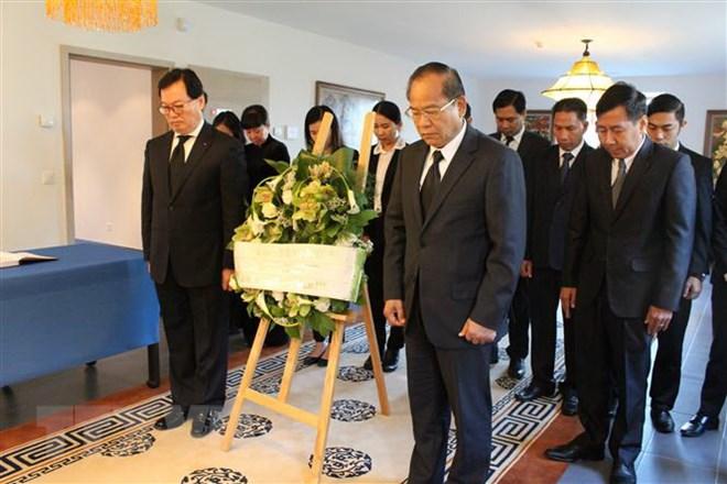 Đông đảo các Đại sứ đến viếng Chủ tịch nước Trần Đại Quang tại Thụy Sĩ