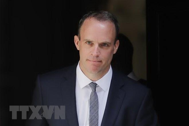 Bộ trưởng phụ trách vấn đề Brexit của Anh Dominic Raab tại thủ đô London ngày 9-7. Nguồn: AFP/TTXVN