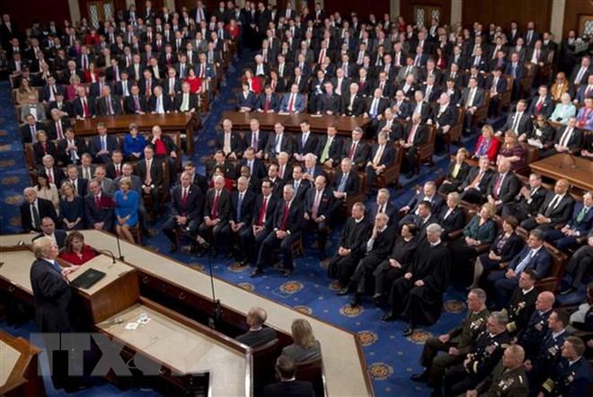 Toàn cảnh một phiên họp Quốc hội Mỹ ở Washington, DC. Nguồn: AFP/TTXVN