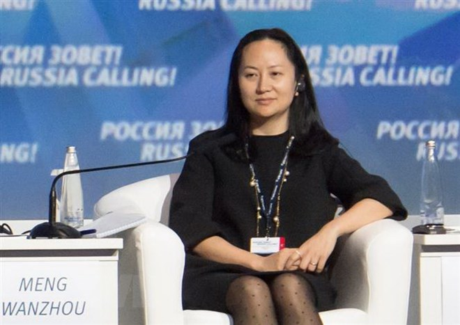 Bà Mạnh Vãn Chu, Giám đốc tài chính của tập đoàn Huawei. Ảnh: Reuters/TTXVN