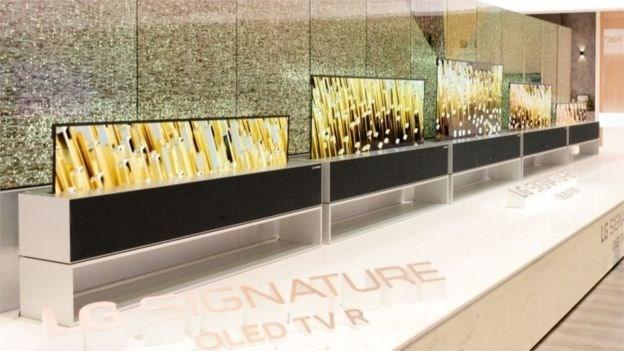 LG giới thiệu sản phẩm tivi cuộn lên xuống đầu tiên trên thế giới