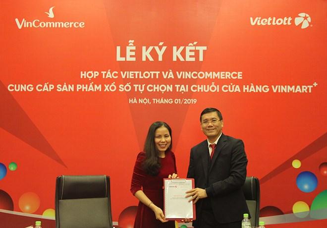 Vietlott bắt tay Vincommerce, bán vé số tại chuỗi cửa hàng Vinmart+ - ảnh 1