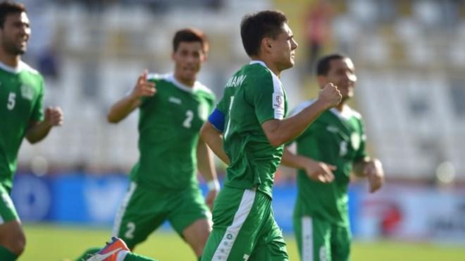 Amanov ghi bàn mở tỷ số trận đấu. (Nguồn: AFC)