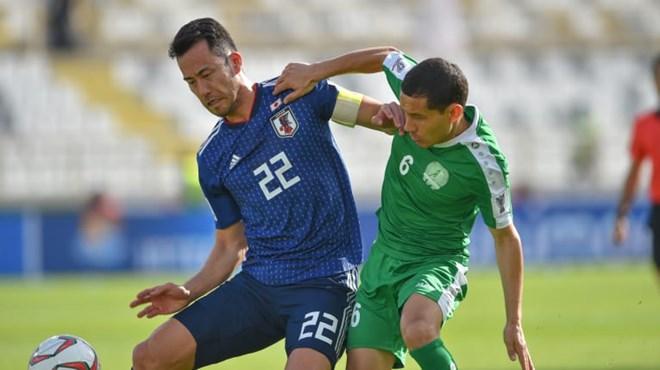 Nhật Bản đã có thời điểm gặp rất nhiều khó khăn trước Turkmenistan dù kiểm soát bóng tốt hơn và gây sức ép rất lớn. (Nguồn: AFC)