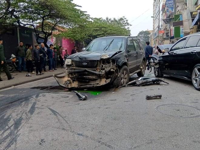 Hiện trường vụ tai nạn. Ảnh: Sơn Bách/Vietnam+