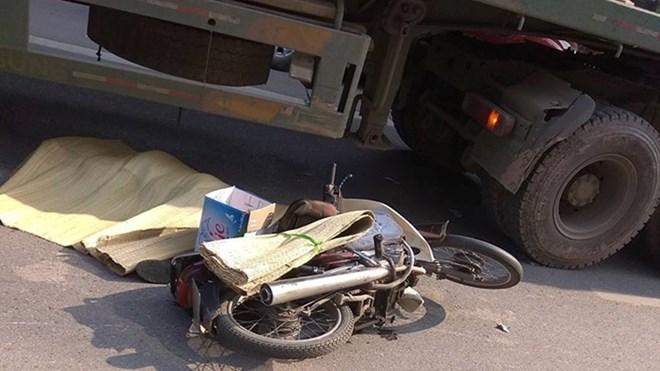 Hiện trường một vụ tai nạn giao thông. Ảnh: CTV Mạnh Cường