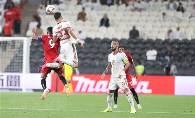 Trong trận đấu ra quân tại bảng D vòng bảng AFC Asian Cup 2019 diễn ra trên sân Mohammed Bin Zayed Stadium, đội tuyển Iran (áo trắng) đã giành chiến thắng với tỷ số 5-0 trước đội tuyển Yemen. (Ảnh: Hoàng Linh/TTXVN)