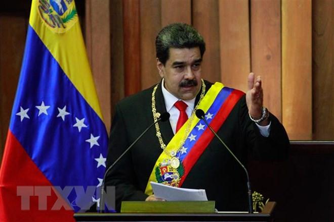 Tổng thống Venezuela Nicolas Maduro phát biểu tại Caracas ngày 10-1-2019. Ảnh: TTXVN phát