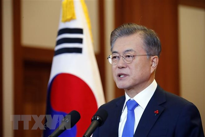 Tổng thống Hàn Quốc Moon Jae-in. Nguồn: Yonhap/TTXVN