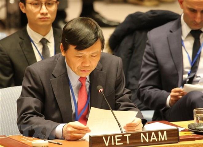 Đại sứ Đặng Đình Quý, Trưởng Phái đoàn Việt Nam tại Liên hợp quốc. (Ảnh: Hoài Thanh/TTXVN)