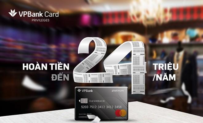 VPBank ra mắt thẻ tín dụng hoàn tiền với mọi chi tiêu qua thẻ - ảnh 1