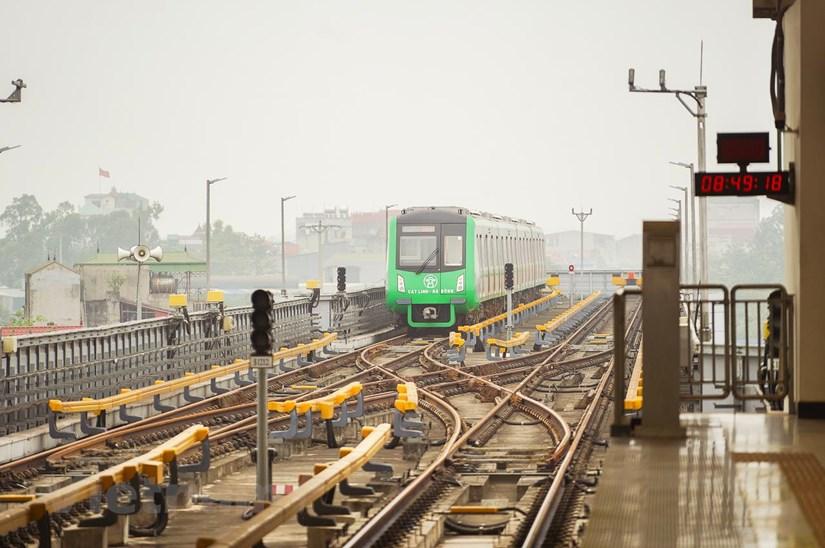 Dự án đường sắt đô thị Cát Linh-Hà Đông sắp được đưa vào vận hành khai thác thương mại. (Ảnh: CTV/Vietnam+)