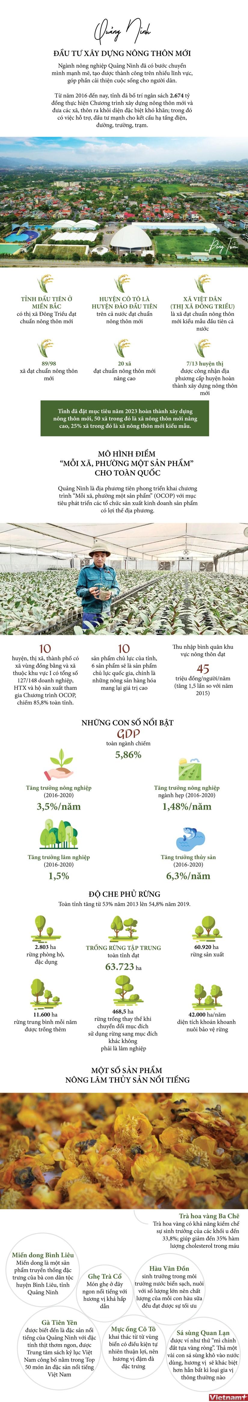 [Infographics] Quang Ninh day manh dau tu xay dung nong thon moi hinh anh 1