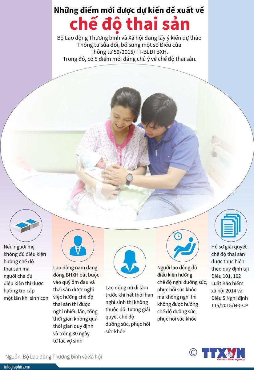 [Infographics] Nhung diem moi duoc du kien de xuat ve che do thai san hinh anh 1