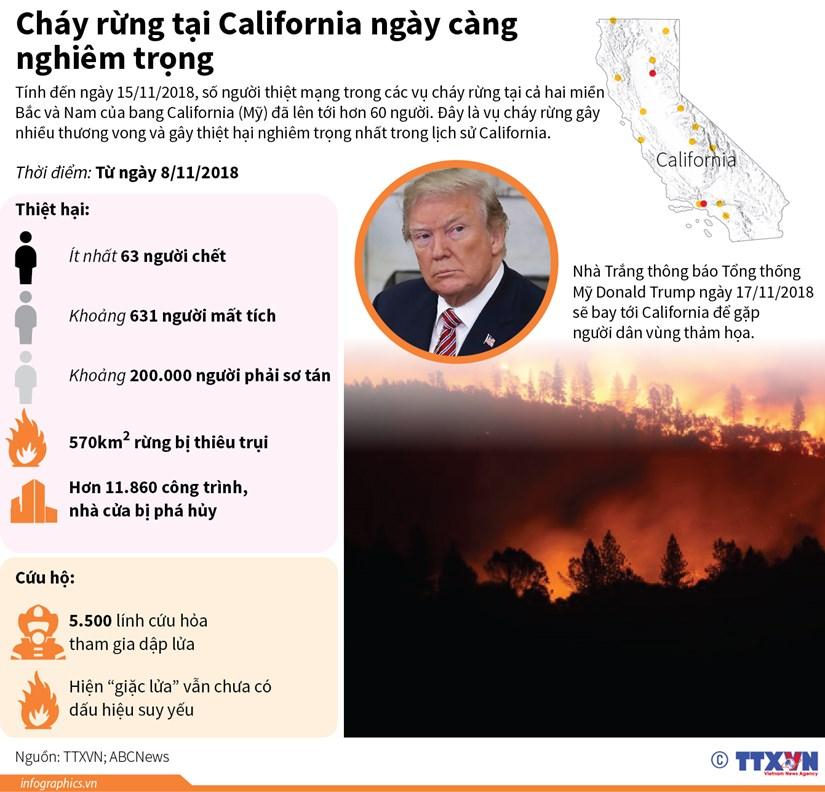 [Infographics] Chay rung tai California ngay cang nghiem trong hinh anh 1
