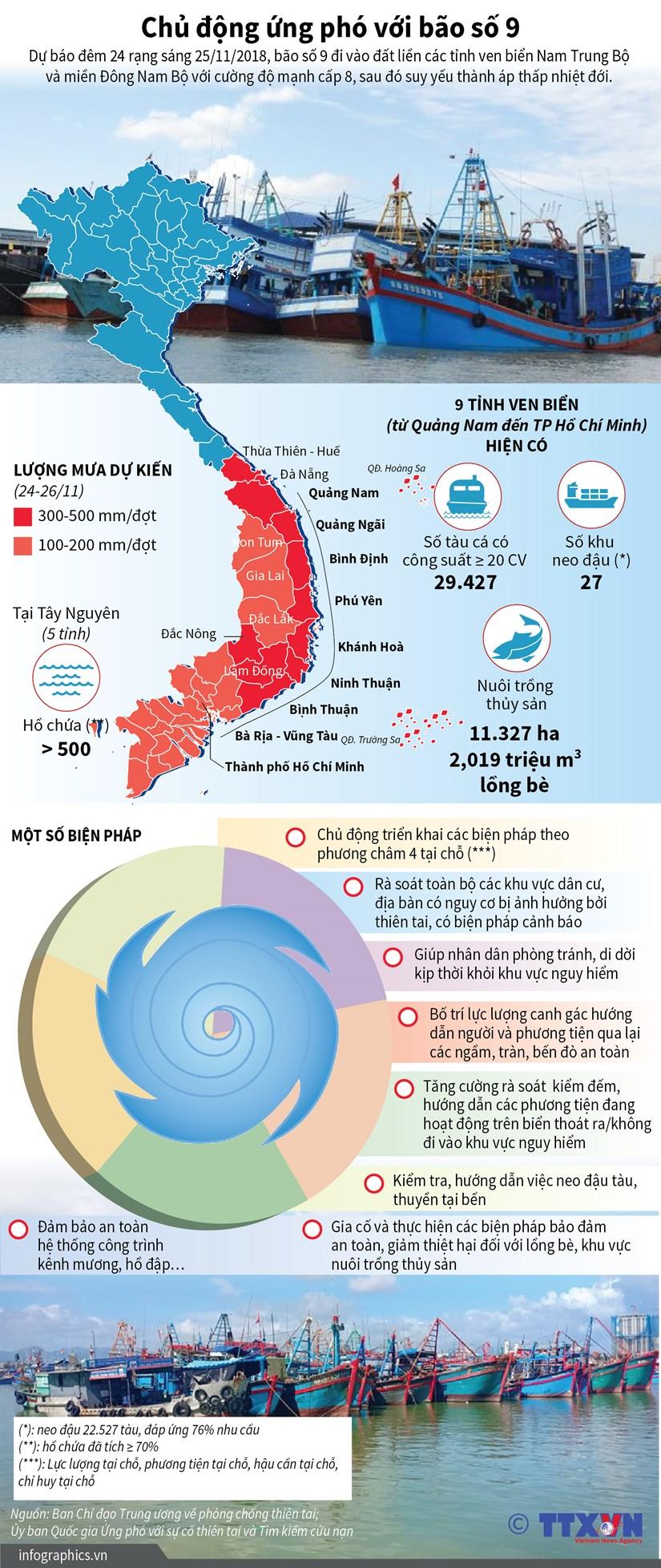 [Infographics] Cac dia phuong ung pho voi bao so 9 nhu the nao? hinh anh 1
