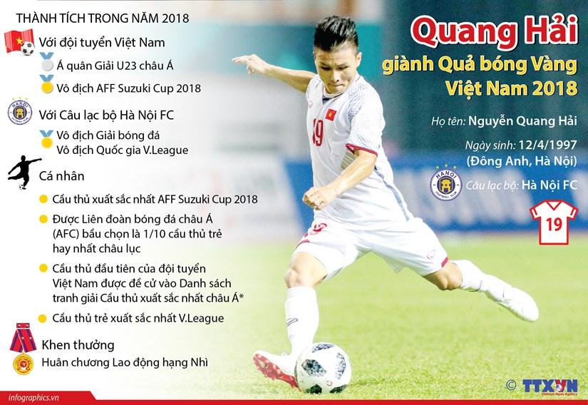 [Infographics] Quang Hai gianh Qua bong Vang Viet Nam 2018 hinh anh 1