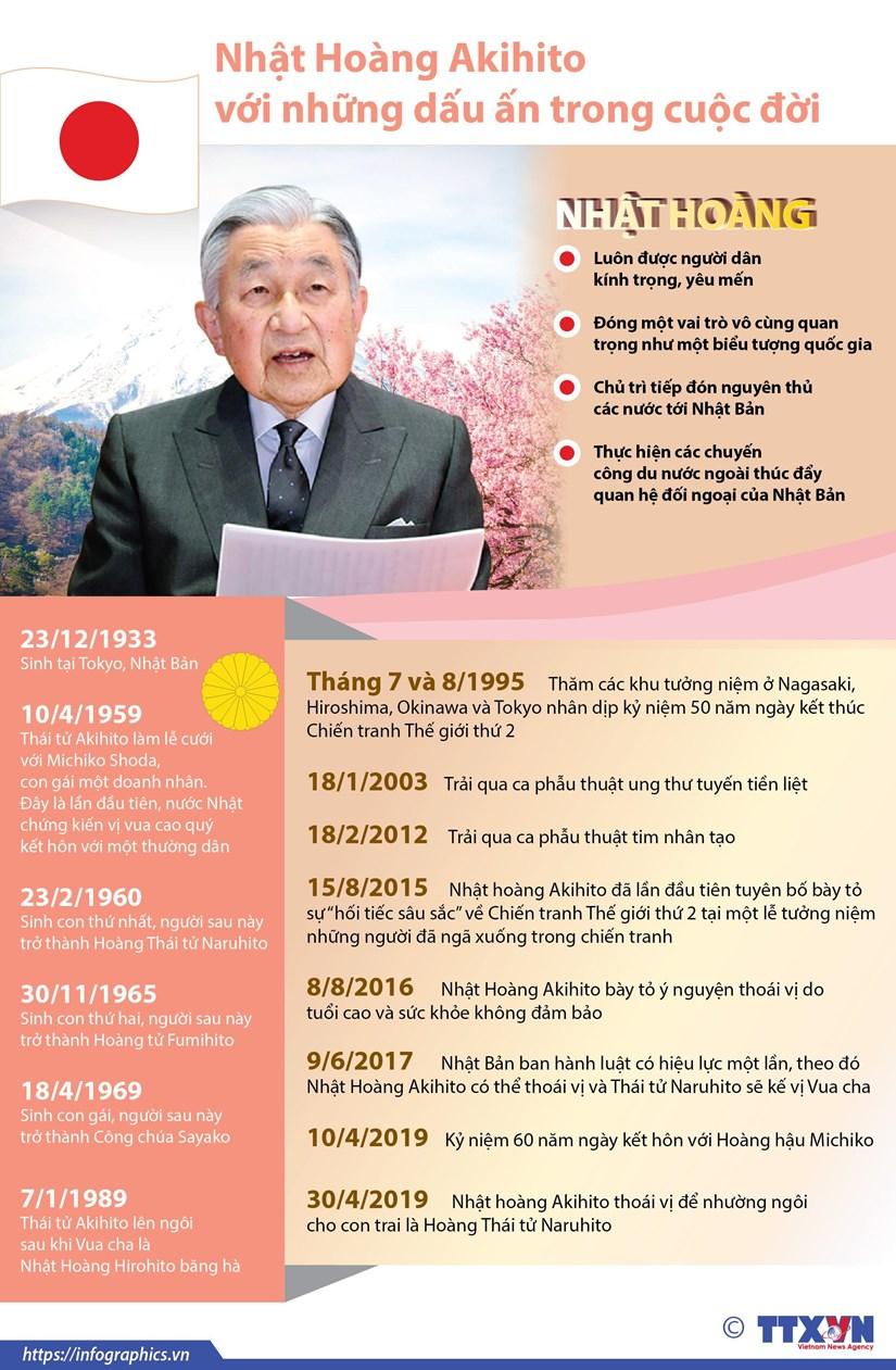 [Infographics] Nhung dau an trong cuoc doi Nhat hoang Akihito hinh anh 1