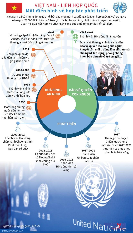 [Infographics] Viet Nam-Lien hop quoc: Dien hinh ve hop tac phat trien hinh anh 1