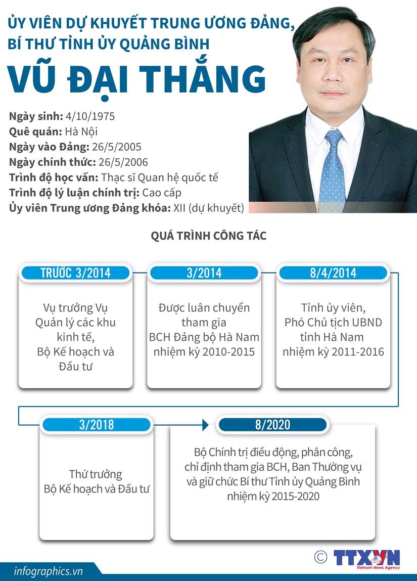 [Infographics] Mot so thong tin ve tan Bi thu Tinh uy Quang Binh hinh anh 1
