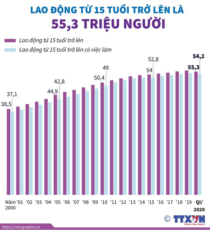 [Infographics] Lao dong tu 15 tuoi tro len la hon 55 trieu nguoi hinh anh 1