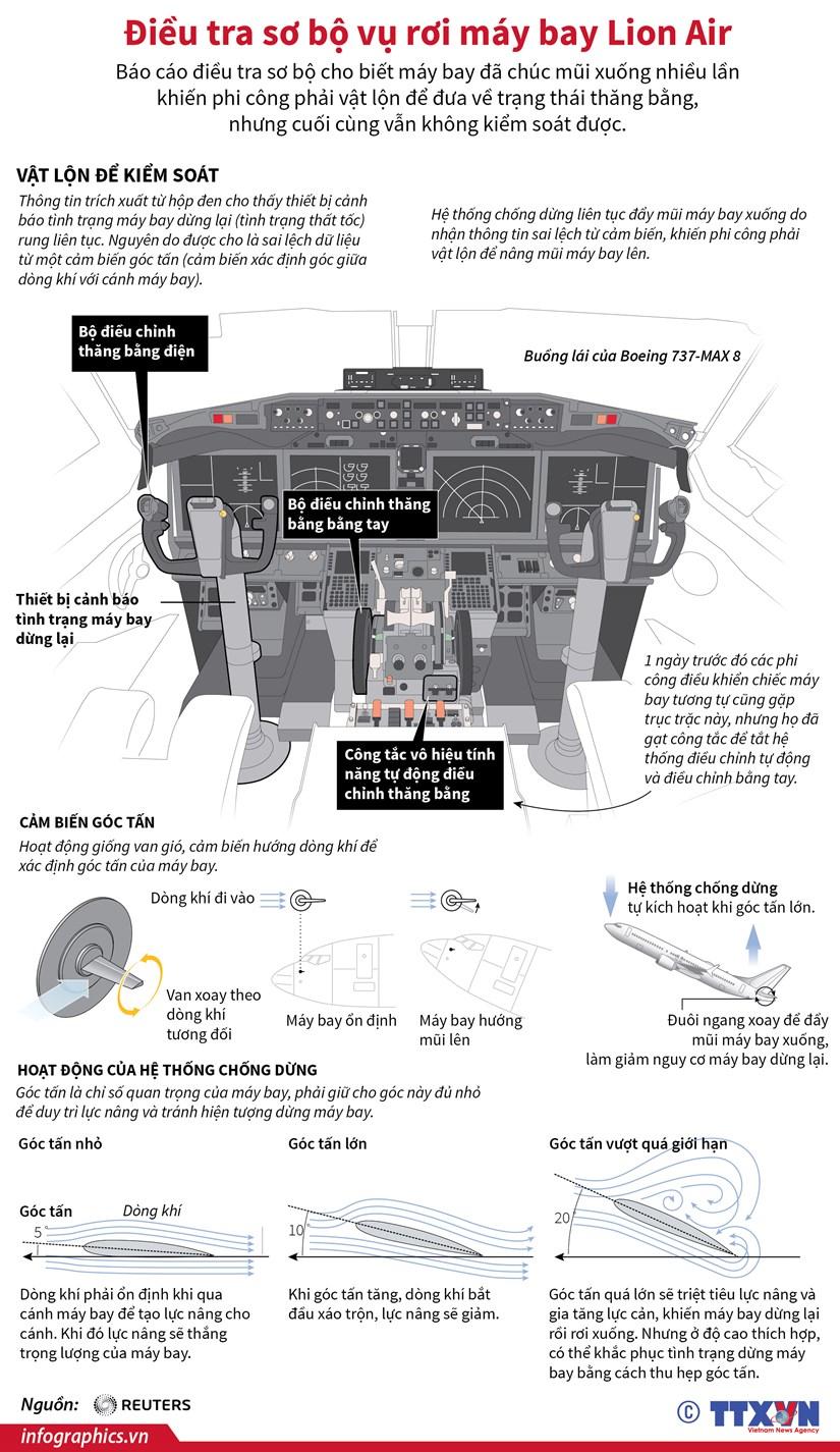 [Infographics] Dieu tra so bo vu roi may bay Lion Air hinh anh 1