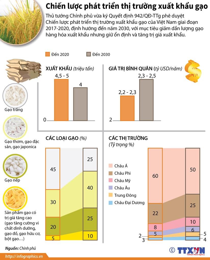 [Infographics] Chien luoc phat trien thi truong xuat khau gao hinh anh 1