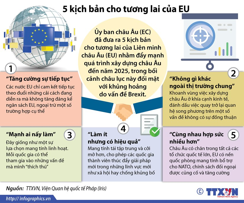 [Infographics] 5 kich ban cho tuong lai cua EU hau Brexit hinh anh 1