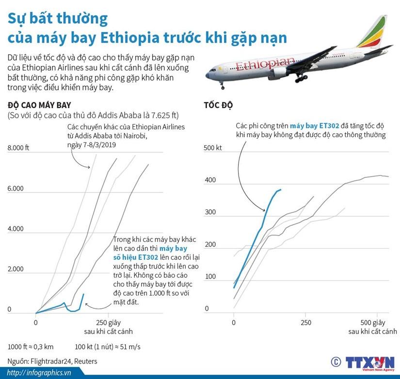 Su bat thuong cua may bay Ethiopia truoc khi gap nan hinh anh 1