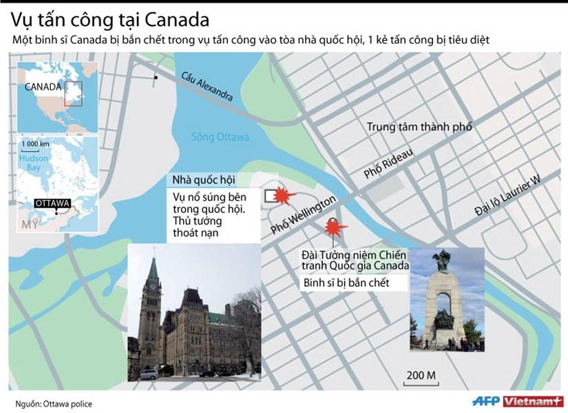 [Infographics] Vu tan cong tao ton vao toa nha quoc hoi Canada hinh anh 1