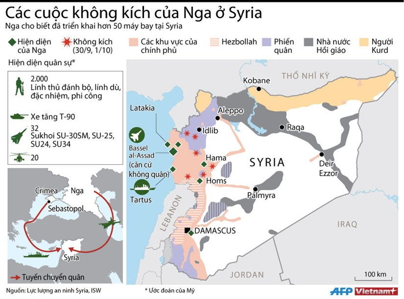[Infographics] Cac cuoc khong kich ac liet cua Nga tai Syria hinh anh 1