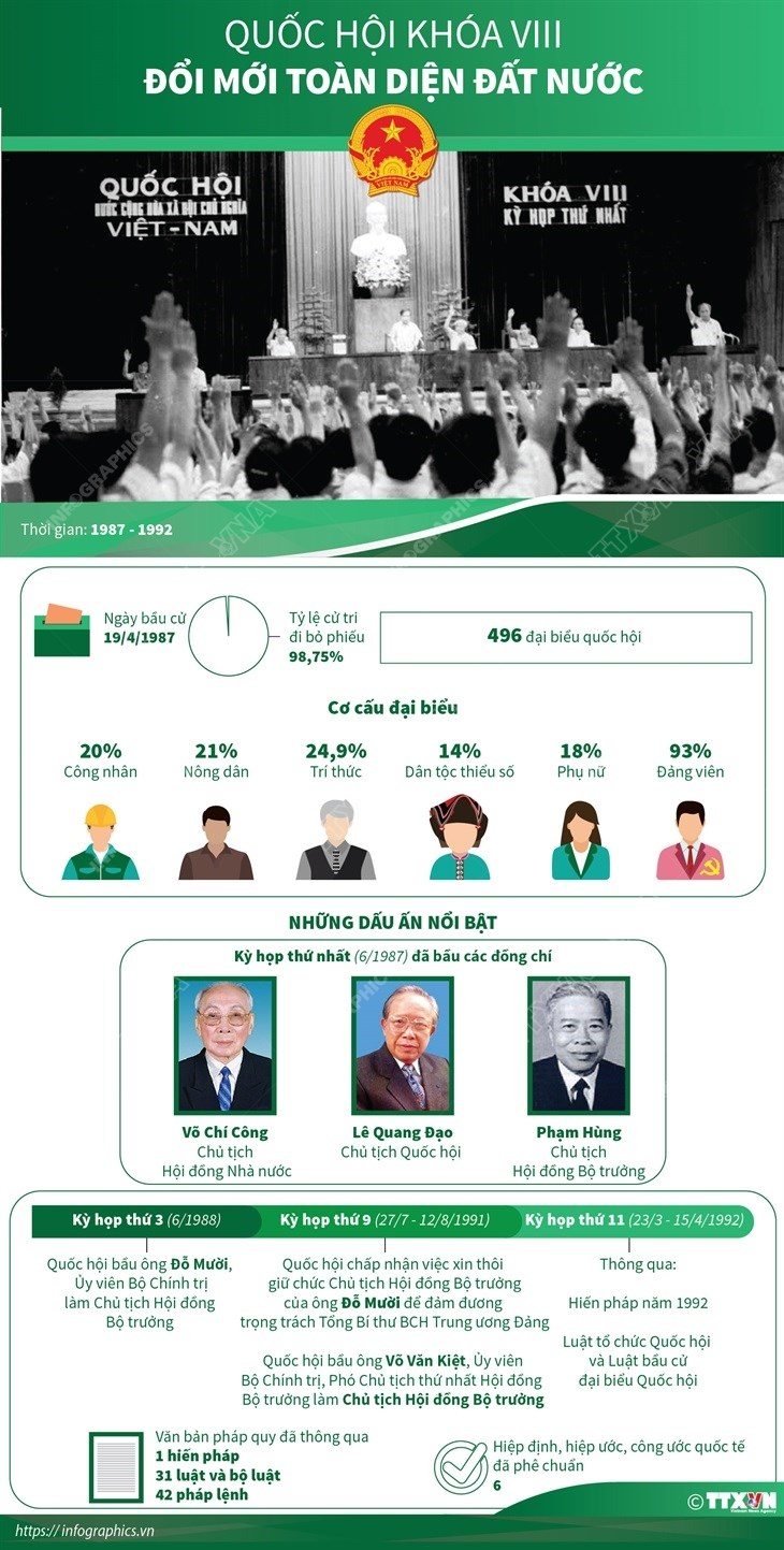 [Infographics] Quoc hoi khoa VIII: Doi moi toan dien dat nuoc hinh anh 1