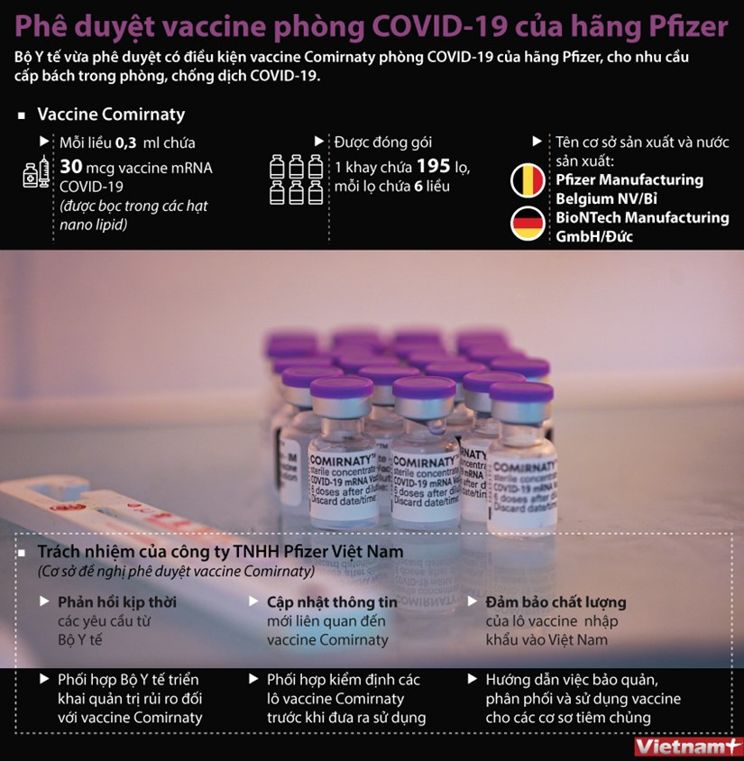 [Infographics] Phe duyet vaccine ngua COVID-19 cua Pfizer/BioNTech hinh anh 1