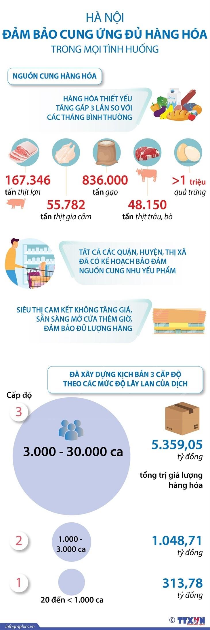 [Infographics] Ha Noi dam bao cung ung hang hoa trong moi tinh huong hinh anh 1