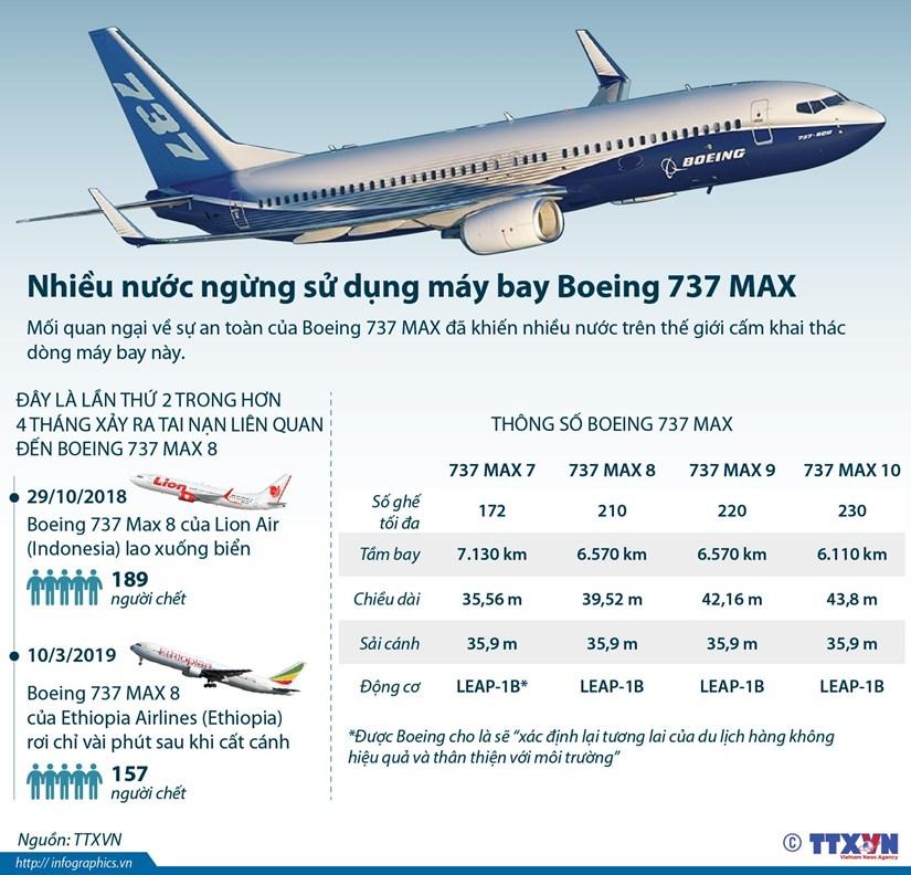 [Infographics] Nhieu nuoc ngung su dung may bay Boeing 737 MAX hinh anh 1