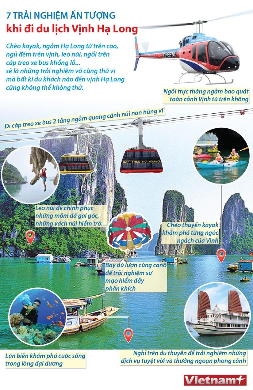 [Infographics] 7 trai nghiem an tuong khi di du lich Vinh Ha Long hinh anh 1